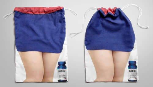 一款减肥产品的帆布袋帆布袋设计稿